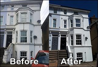 Property Building Exterior Painting_Specialists-kent-Maidstone, Canterbury, Sevenoaks, Ashford, Dover, Sittingbourne, Strood, Larkfield, sheppey, Tonbridge, Medway_towns