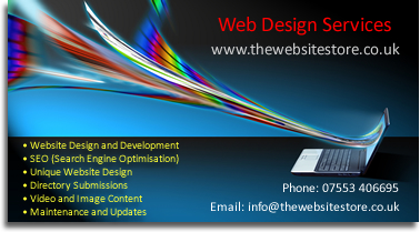 The Website Store Kent Link Business Card Affordable Web Design Services